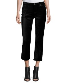 7 For All Mankind Cropped Boot-Cut Velvet Jeans