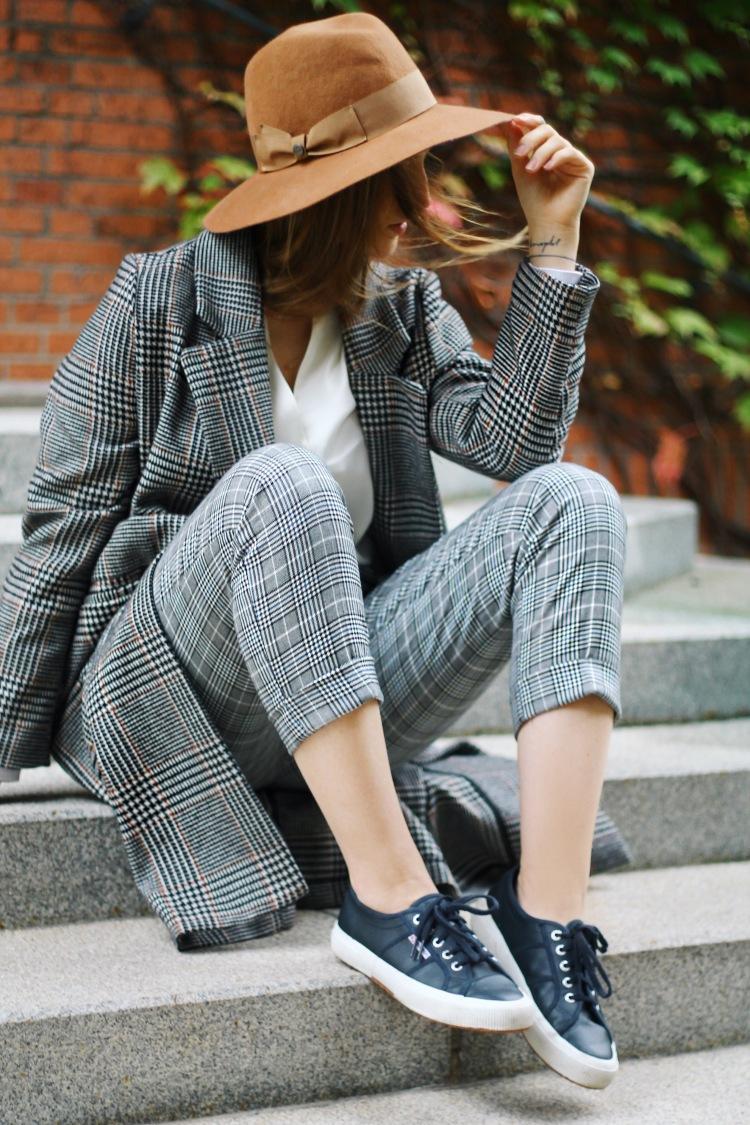 pattern mix glencheck coat checkered trouser lauraherz munich