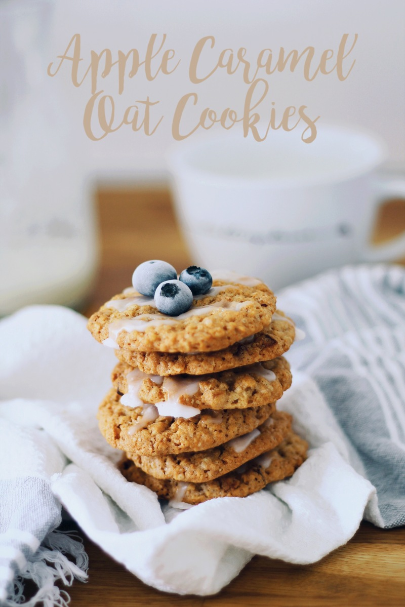 Apple Caramel Oat Cookies