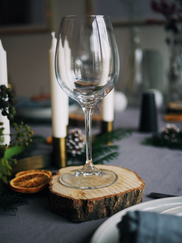 Christmas Table Decoration Tree Slice