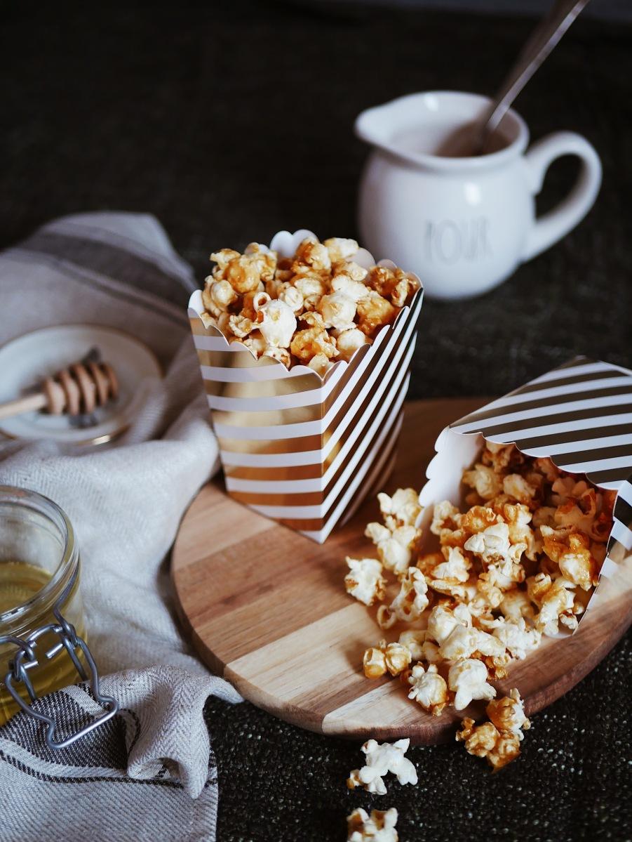 Salziges Karamell-Popcorn