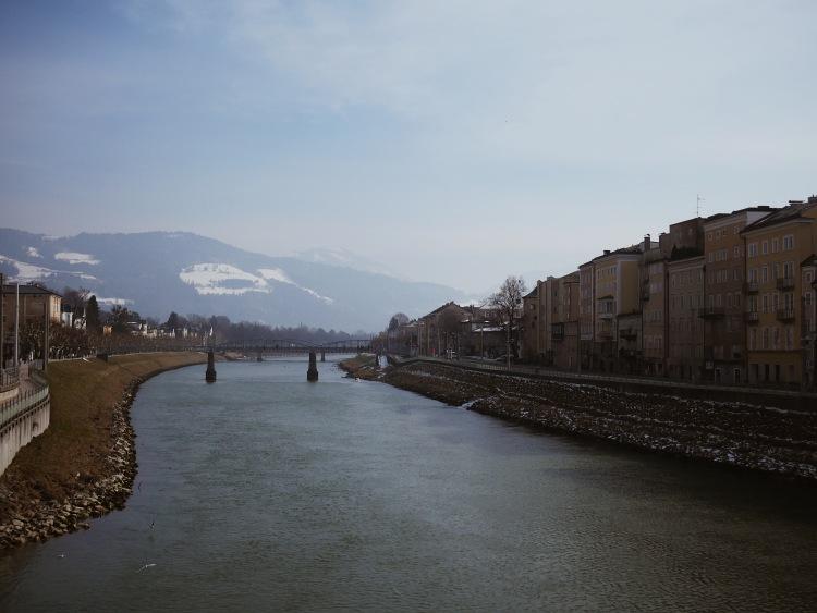 Salzburg Fluss Salzach